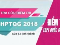 Tra cứu điểm thi THPT Quốc gia 2018 tất cả các tỉnh