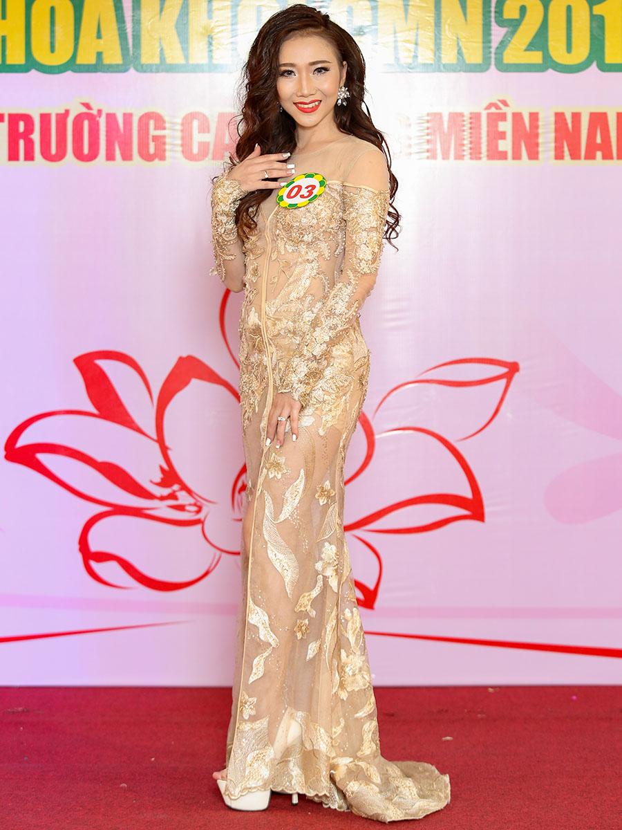 Hoa khôi CMN 2017 - trang phục dạ hội