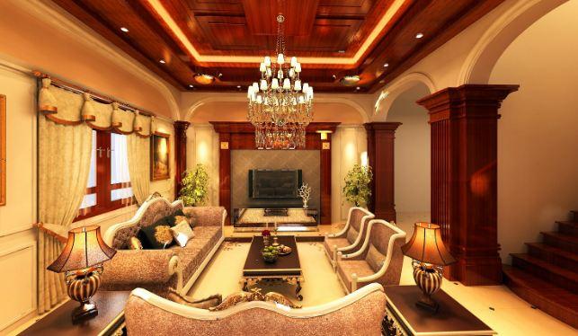 trần gỗ cho không gian sang trọng