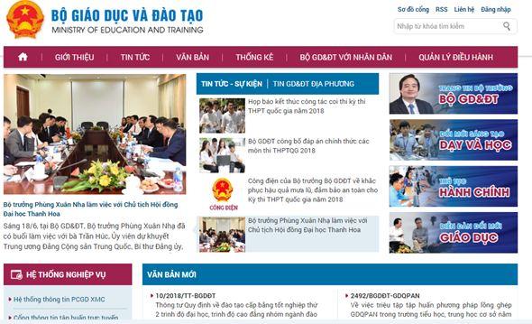 hướng dẫn tra cứu điểm từ website bộ giáo dục