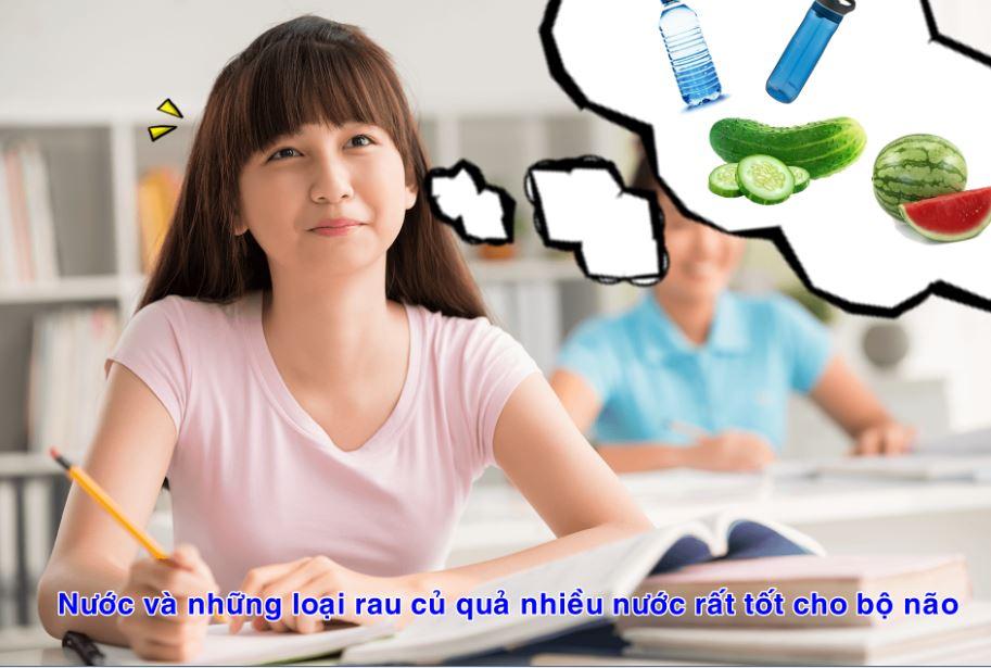 nước cần thiết cho hoạt động của não bộ