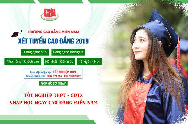 Cao đẳng Miền Nam tuyển sinh 2019